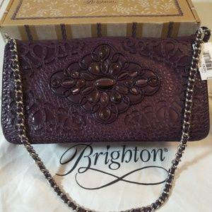 "NWT Brighton ""Lacey"" Loganberry colored handbag"